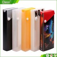 eco-friendly fashion stationary pencil box happy idea series PP plastic pencil case for school stationery set