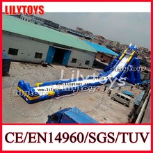 2014 manufacturer popular blue giant inflatable slide hippo slide water hippo slide with high quality