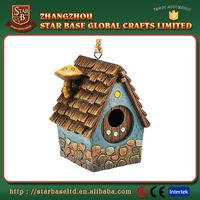 Garden hanging decoration decorative resin birdhouse