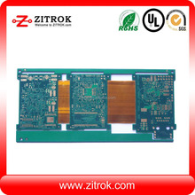 4-layer Rigid-Flexible PCB with Gold-plated Surface Finish and UL Certificates