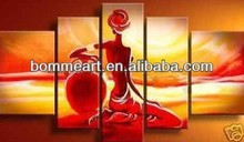 Modern abstract beautiful lady in the sun portrait oil painting on canvas pretty lady sexy nude women photos