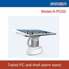 Rational design charging fucntion tablet pc display alarm stand