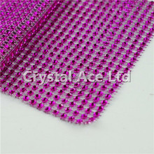 "4.5"" x 30ft Wedding Decoration Supplies Rhinestone Diamond Wraps Ribbon Mesh"