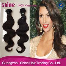 Natural color 100% virgin brazilian wholesale bobbi boss hair