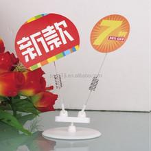 retail plastic display spring wobbler