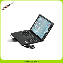 Leather Case with bluetooth keyboard for ipad air, smart cover case for ipad air, PU leather case for ipad 5 with keyboard