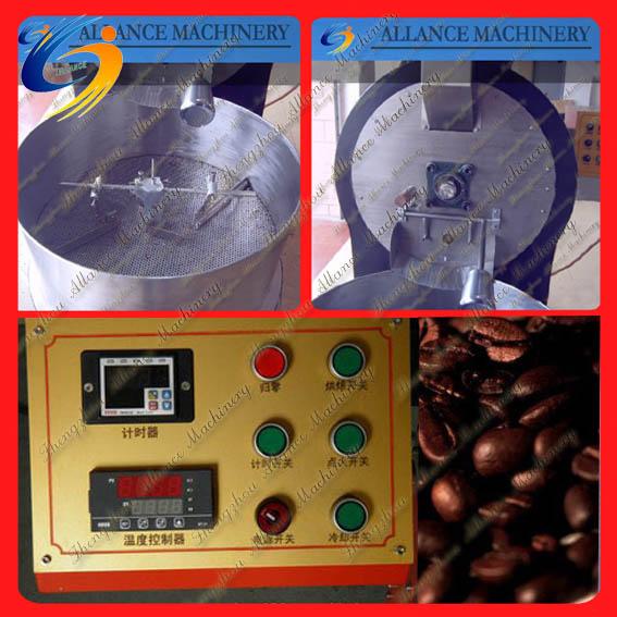 217 horizontal tambor máquina tostadora para café