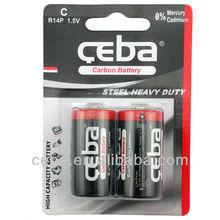 China manufacturer/Shenzhen battery/Shrink wrap/c size r14 battery 1.5v