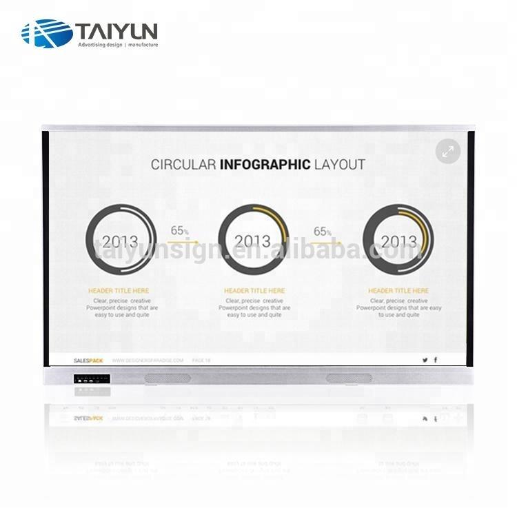 65 인치 와이파이 전자 화이트 보드 디지털 화이트 멀티미디어 교육 장비