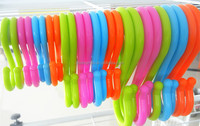 Colorful plastic S hook for goods hanging