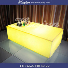 oblong led table/ waterproof rechargeable table