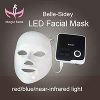 Easy to use IPL light therapy with 3 colors-Red .blue and infrared led mask skin with teaching video