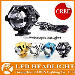 Hot-selling mini moto spare parts DC 12-80V Waterproof led motorcycle spot driving fog head light U5