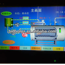Horizontal 0.35 to 14MW gas and oil fired hot water boiler