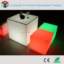 Rotational moulding light cube table Dongguan factory
