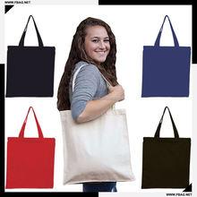 Cheaper standard size long handle white cotton canvas bag