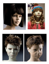 1001A China supplier wigs for kids & children mannequins