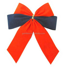 With 2 Wings Green Christmas Velvet Butterfly Ribbon and Tie Bow