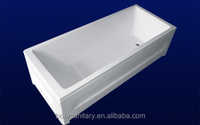 2015 free-standing hot-selling skirts fiberglass acrylic bathtub good quality with resonable price