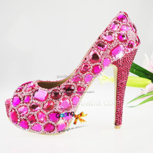 Fashion Heels Wholesale Shoes shoes crystal Handmade Crystal Shoes
