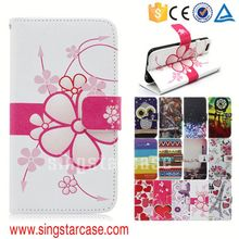 China Suppliers cell phone flip wallet leather case for samsung galaxy s5 active