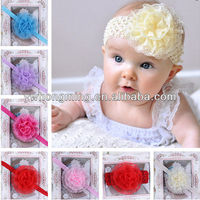 Toddler baby girl lace flower Headband ,Girls Big flower hairband ,infant baby headbands hair accessories!!