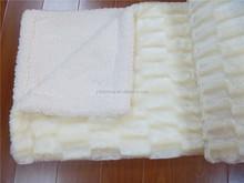 deep carved polyester minky blanket