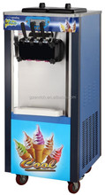 three handles commercial ice cream machines with 2+1 mixed taste of ice cream