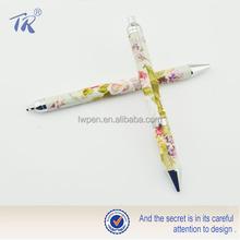 Custom 2015 novel design slogan pen print twist metal pen