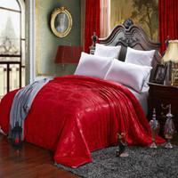 Red wedding silk quilt, 100% long mulberry silk quilt/comforter set ( Fill 1kg)