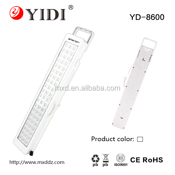 plastic 60smd 13w led rechargeable emergency light with