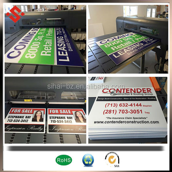 advertisign used coroplast corrugated sheet printing sign board