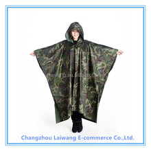 OEM factory 100% polyester or oxford durable raincoat army rain poncho military outdoor workplace bicycle motorcycle raincoat