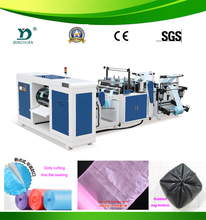2015 Most popular Plastic Cutting-off coreless garbage bag on roll maker
