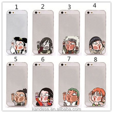 Cute Cartoon Hit The Glass for Apple for Iphone for samsung galaxy phone case