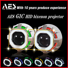 AES TUTO HEADLIGHT G1C MINI AES Promotion BRAND NEW double angel eye hid xenon projector kit