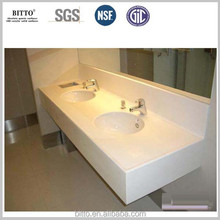 acrylic hospital bathroom shopping center vanity tops solid surface artificial stone