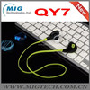 Bluetooth Earphone CSR4.0 New Mini QY7 Sports Bluetooth Earphone, Wireless Stereo noodle China factory Price