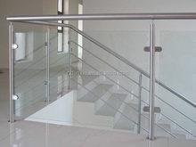 stainless steel frameless glass railing for porch/deck/balcony jinxin factory
