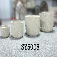 Natural cement clay flower pots wholesale