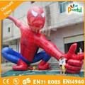 Alta calidad divertido inflable gigante modelo del hombre araña para adversiting