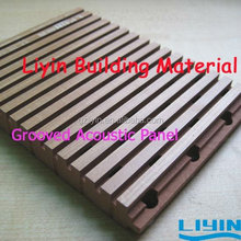 Decoration Wooden Grooved Acoustic Panel Ceiling