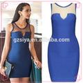 Royal Blue color de corea ropa de vestir Casual para las muchachas
