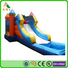 Certificated inflatable castle slide/ water inflatazble castle with slide