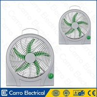 Home appliances products 12inch solar box fan with light