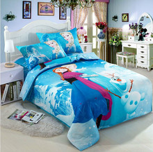 wholesale frozen anna elsa bedding sets 3pcs, Quilt Cover, Bed Sheet, Pillow Case