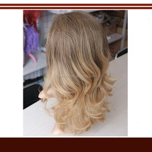 2015 Wholesale Price Top Quality Curly Synthetic Half Wigs