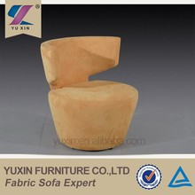 modern guangzhou fabrics two color sofa chair