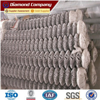 Alibaba china hot dip used chain link fence for sale / galvanized chain link fence factory / PVC coated chain link fence