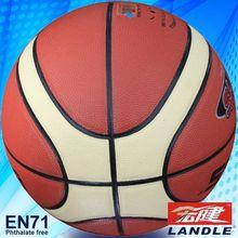 High quality 12 panles PU basketball leather basketball equipment